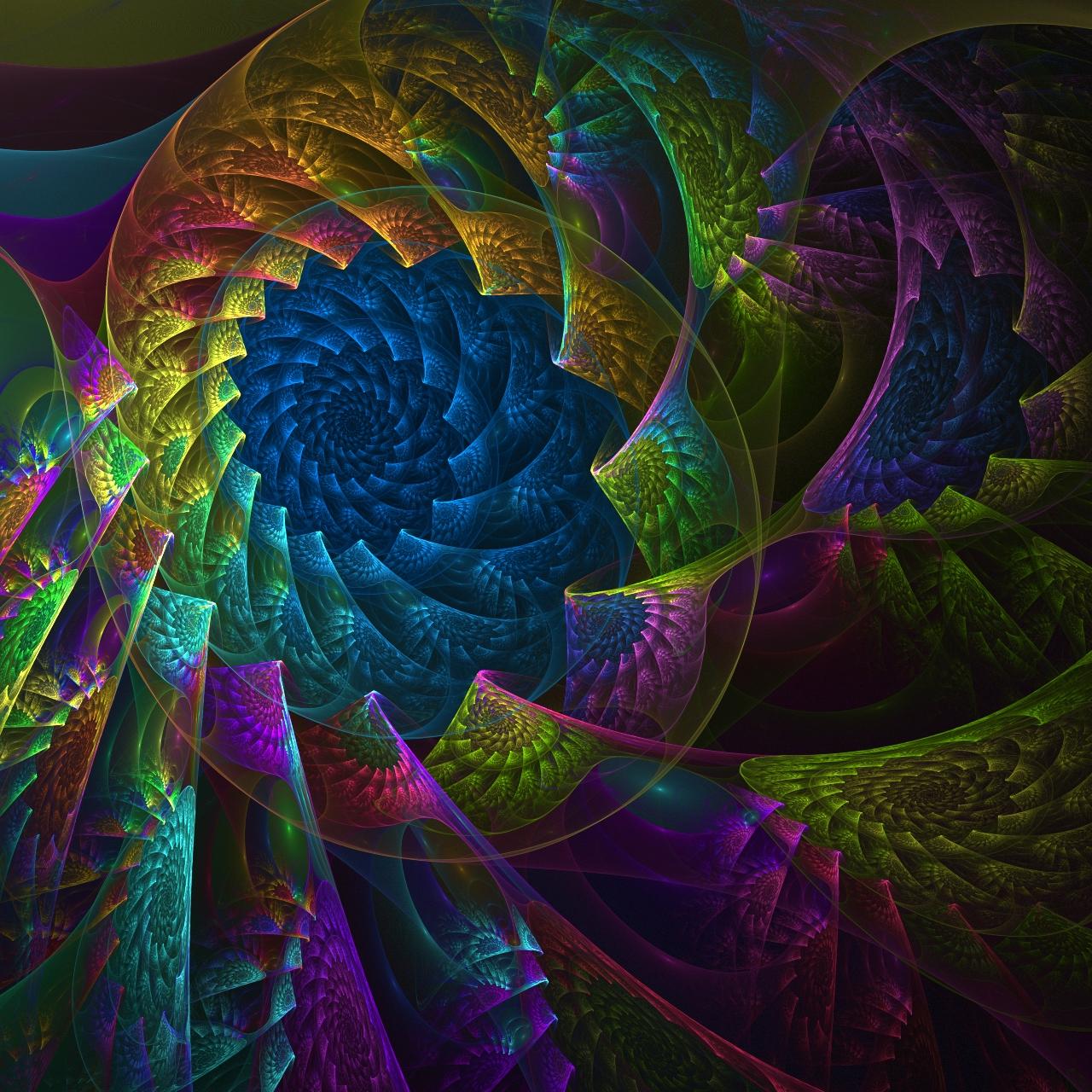 amazing rainbow fractal art - photo #11