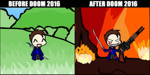 Before and After Doom 2016