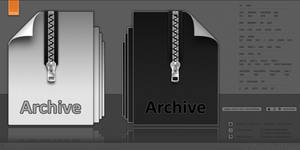 Archive + CompressedFile Icons