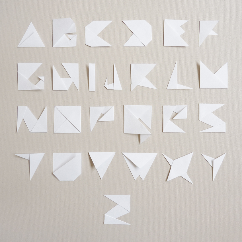 paper typography by anarcotique on deviantart