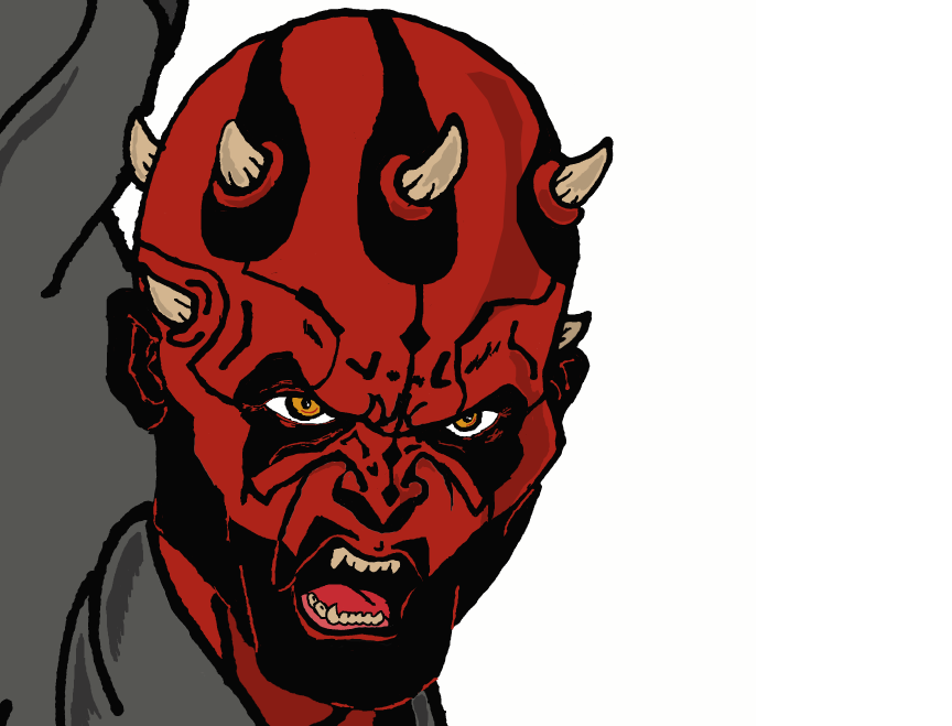 Darth Maul Face Detail by ChinoDT on deviantART
