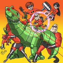 The incredibles Vs. Killer Rex