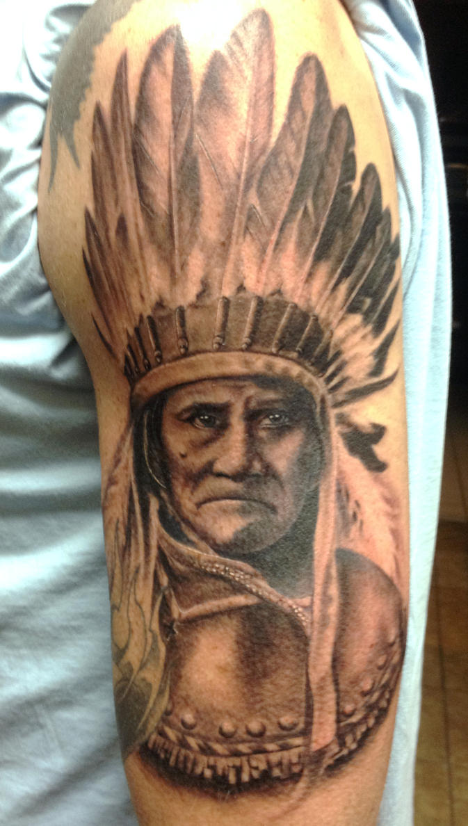 Chief Geronimo Tattoo