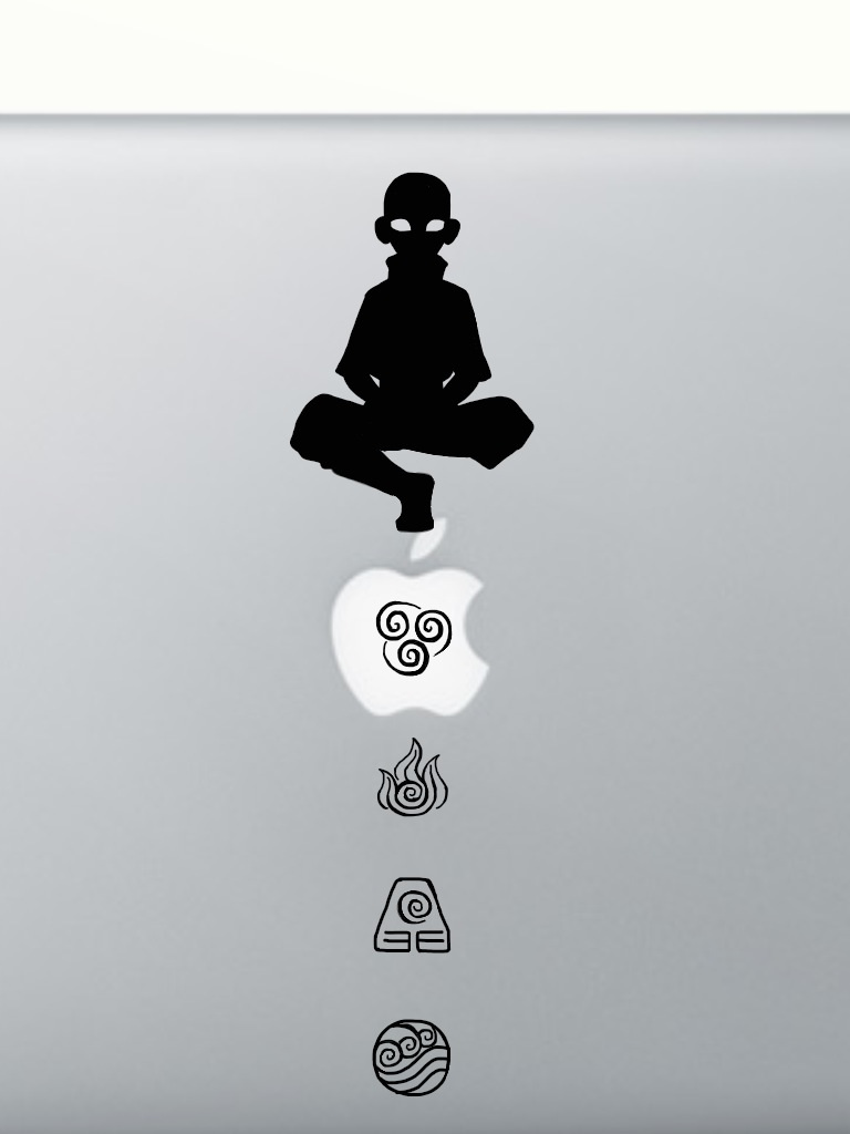 Avatar aang apple mac sticker design by onionbananajuice