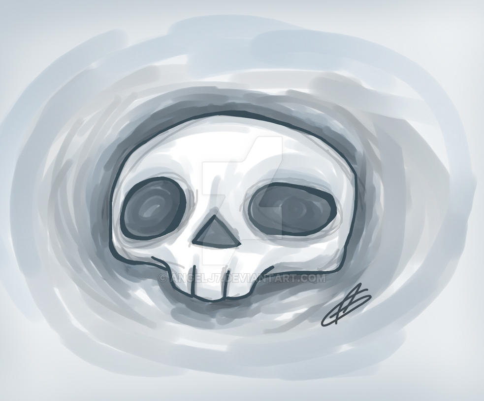 Messy Skull by AngelJ7