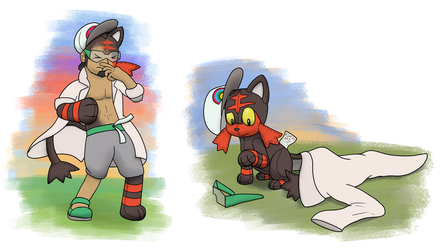Kukui's Litten Plush Time by CrizBN