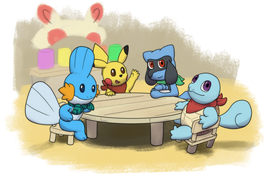A Meeting at Spinda's Cafe by CrizBN