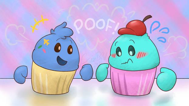 Two Freshly-Made Battlecakes