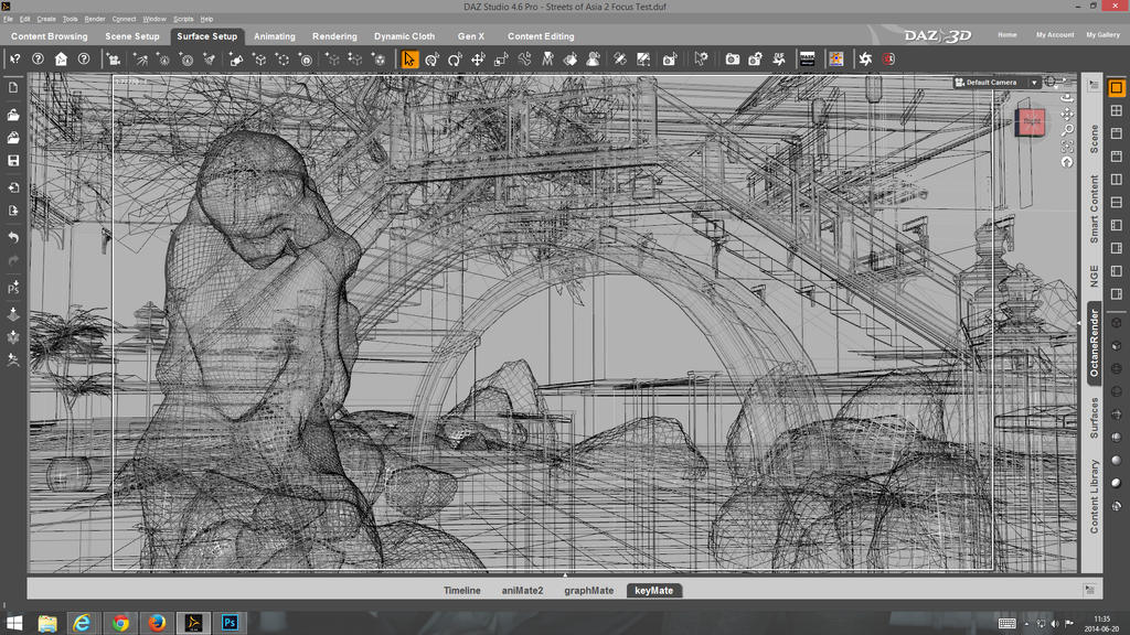 DS Open GL viewport - Wireframe by linvanoak