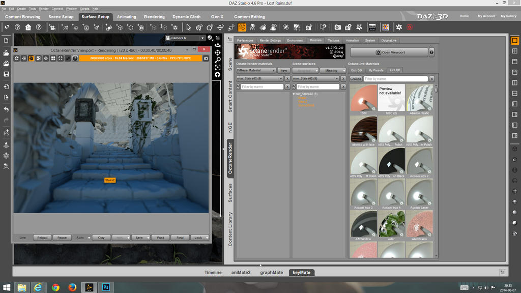 Select DAZ Surfaces and Octane Materials by linvanoak