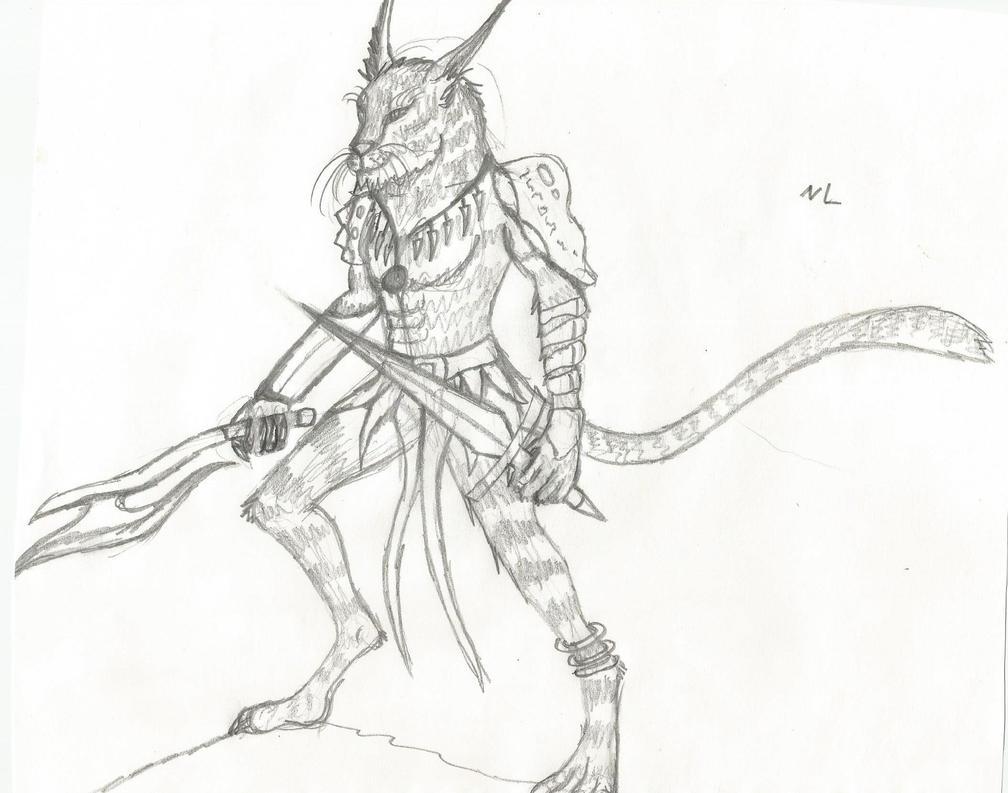 Cat warrior by Nikkusangheili33
