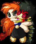 Chibi June and Chibi Red by FankaDB