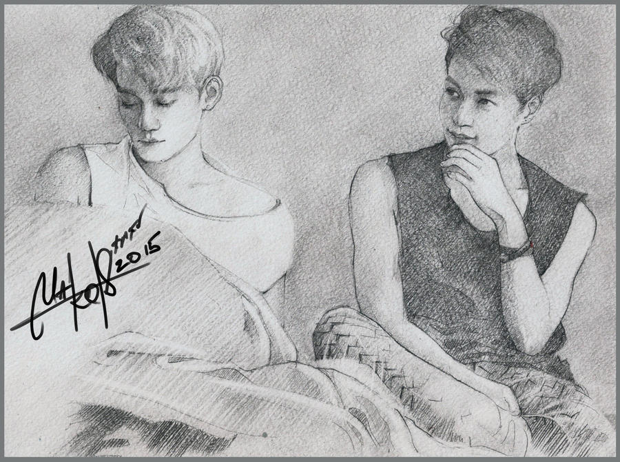 CHEN/LAY(EXO) SKETCH by RainyMary