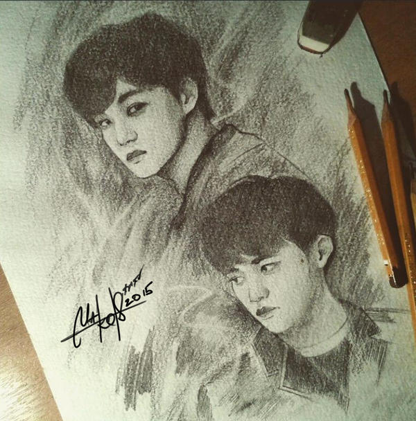 KAI/D.O (EXO) SKETCH by RainyMary