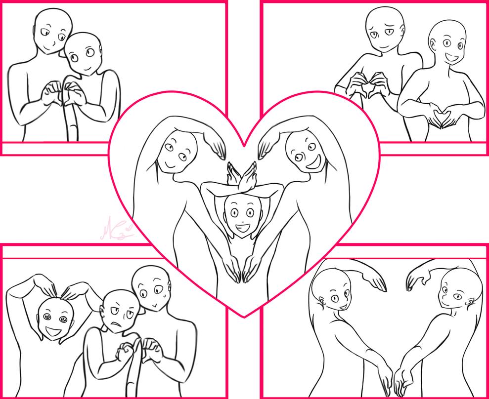 Draw the squad_valentine's day version by RukusuCherry