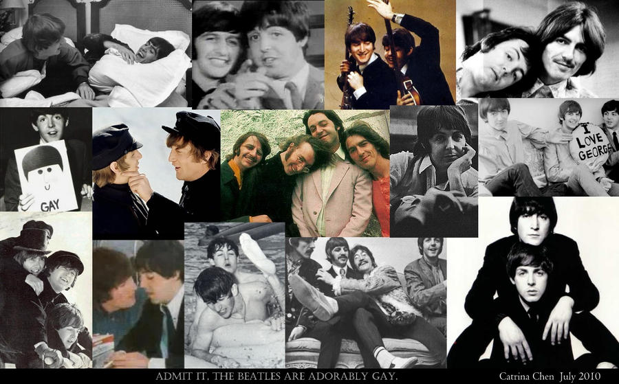 Adorably Gay Beatles Wallpaper by thehurricanes