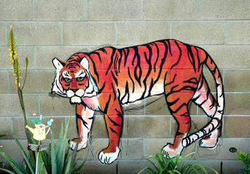 Wall Tiger by eliasofthesea