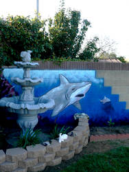 Wall Sharks by eliasofthesea
