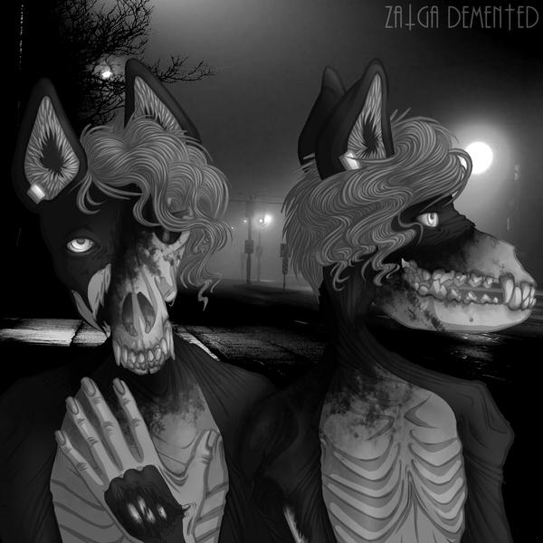 [GORETOBER] Bones Showing by ZalgaDemented