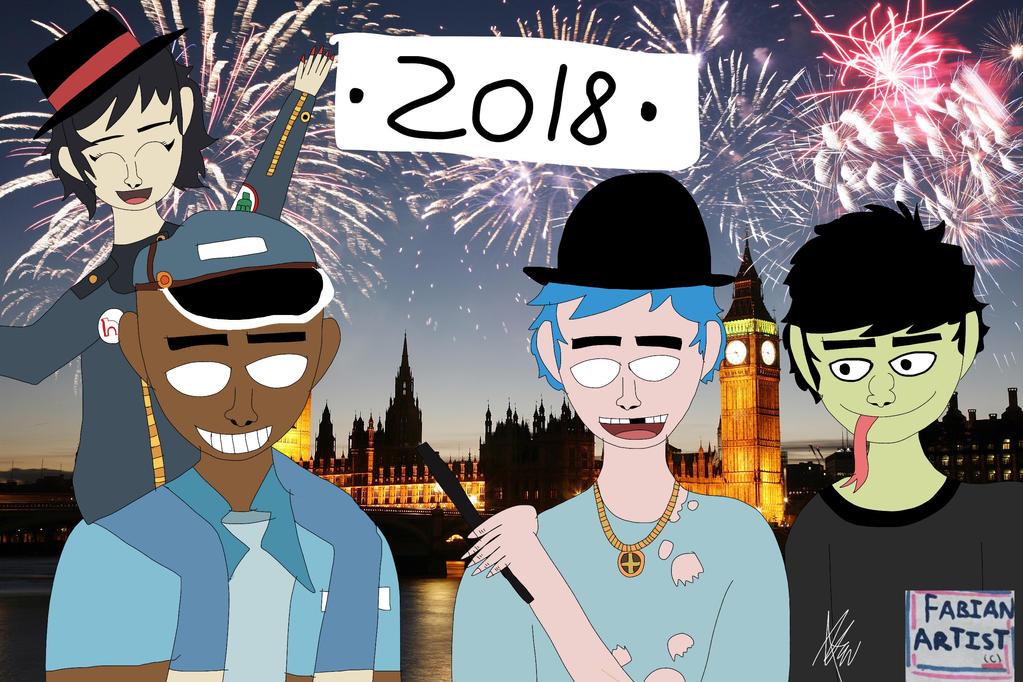Gorillaz New Year 2018 by FabianArtist on DeviantArt