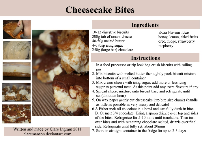 Cheesecake Bites Recipe by claremanson
