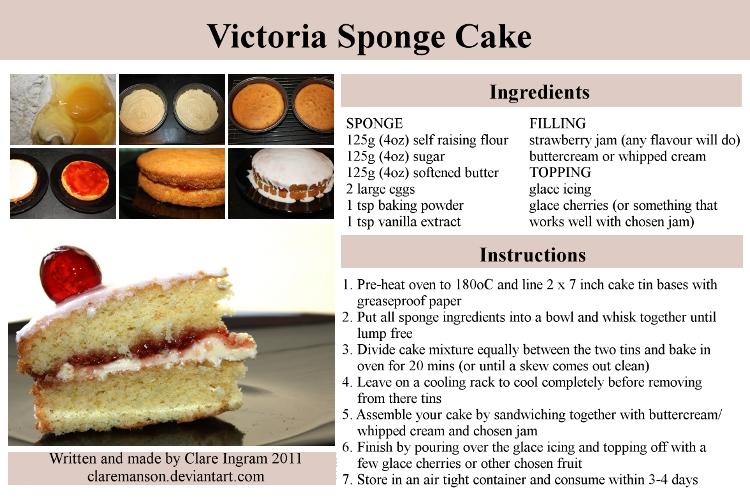 Victoria Sponge Cake Recipe by claremanson