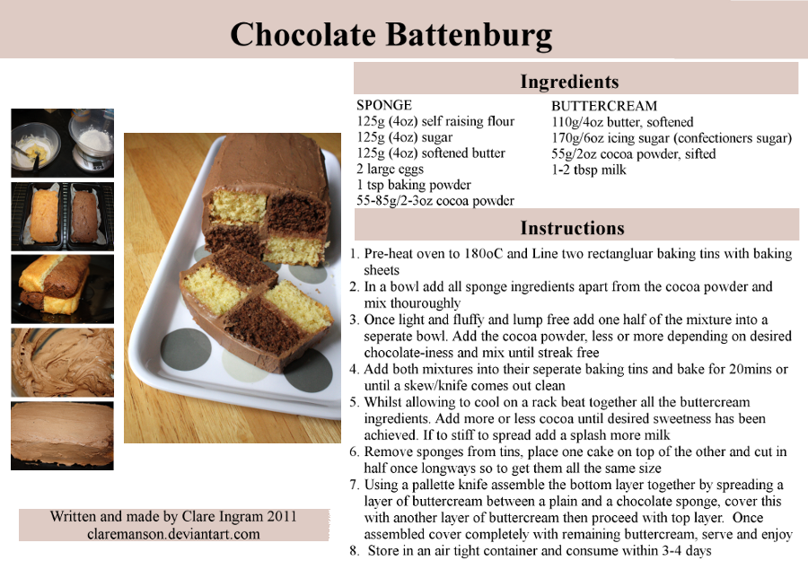 Chocolate Battenburg Recipe by claremanson