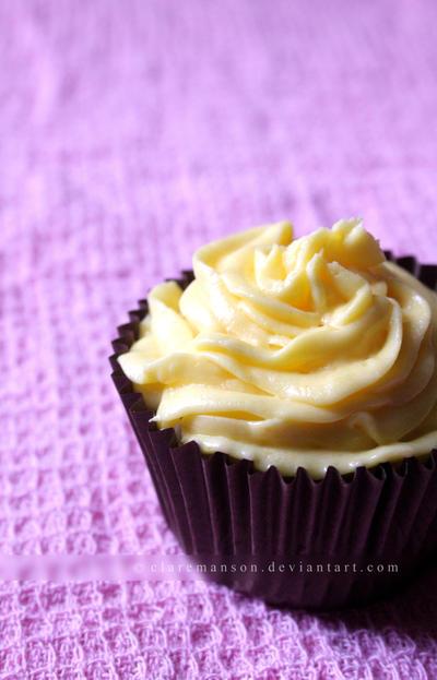 Lemon Curd Cupcake by claremanson