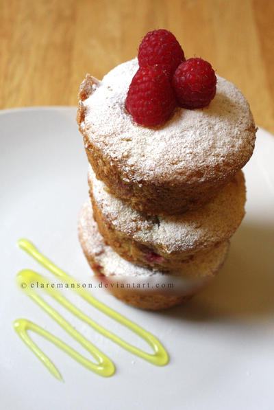 Rasberry Cupcakes by claremanson