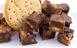 Chocolate Digestive Biscuit Fudge by claremanson