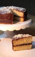 Snowfall Cake by claremanson