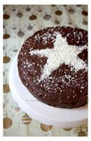 Snowfall Star Cake by claremanson