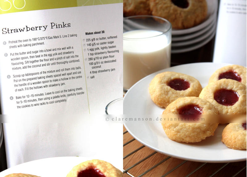 Strawberry Pinks Cookie Recipe by claremanson