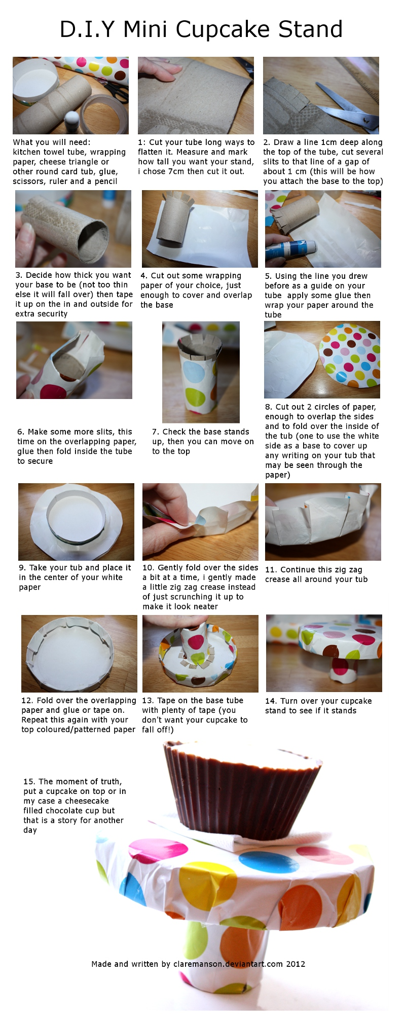 Mini Cupcake Stand Tutorial by claremanson
