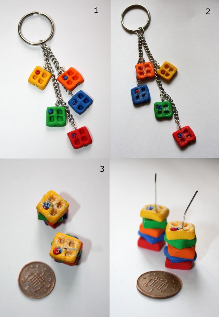 Rainbow Waffles by claremanson