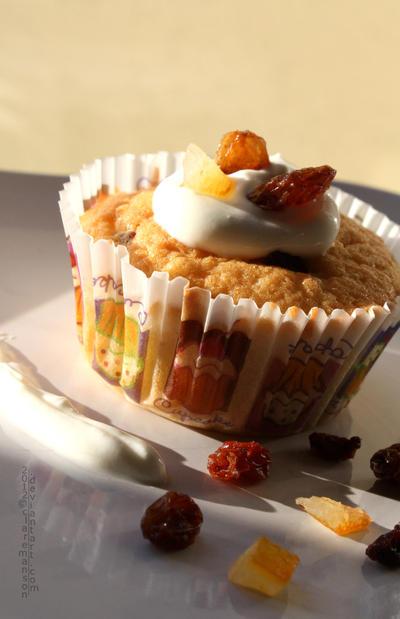 Mixed Fruit and Yogurt Cupcake by claremanson