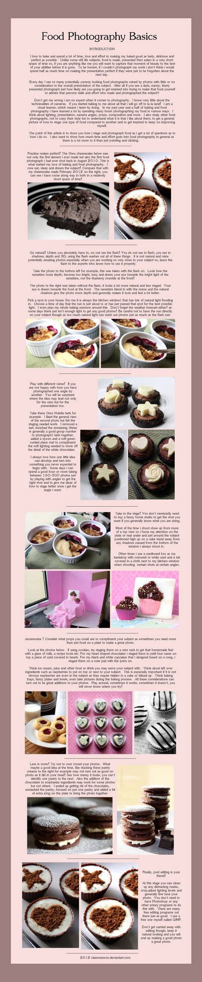 Food Photography Basics by claremanson