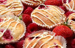 Summer Fruit and White Chocolate Cupcakes