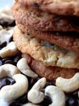 Chocolate Chip + Cashew Nut Cookies