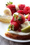 Honey, Cream, Fruit And Chocolate Cake