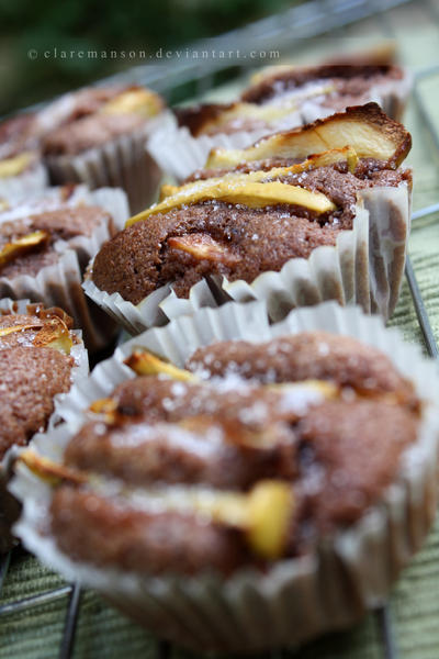Apple Chocolate Cupcakes by claremanson
