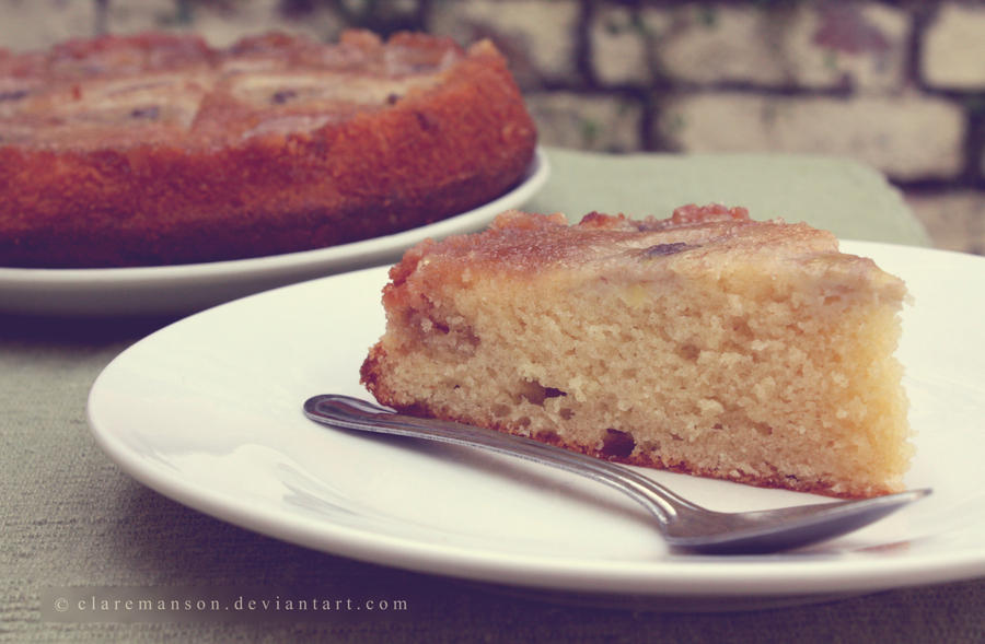 Upside Down Banana Cake by claremanson