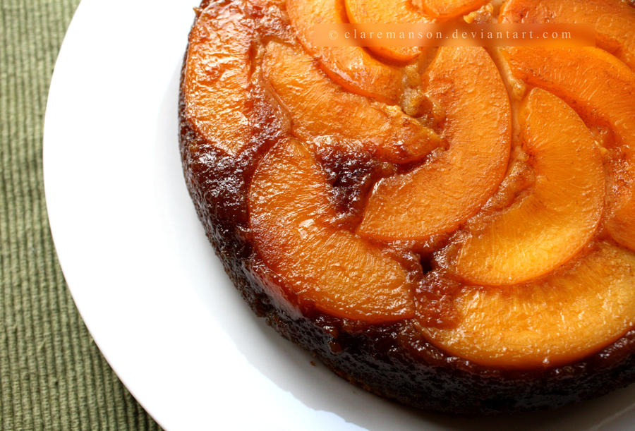 Upside Down Peach Cake by claremanson