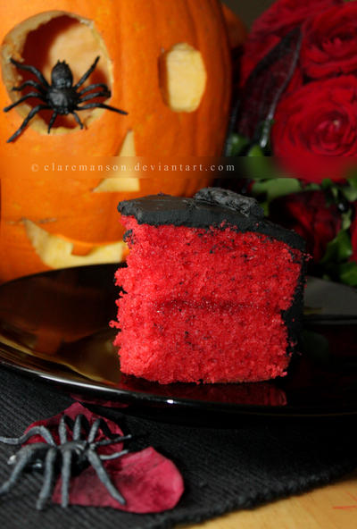 Halloween Wedding Cake Slice by claremanson