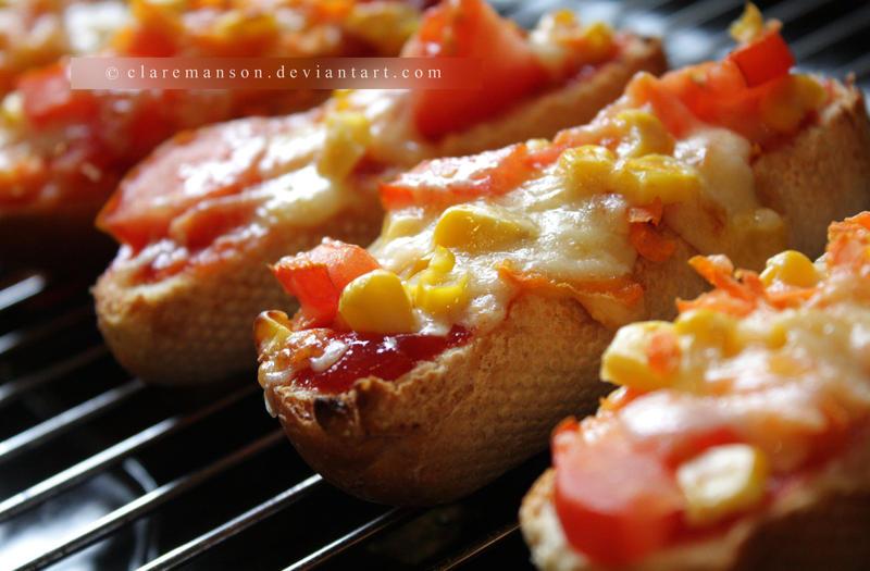 Bitesize Pizza Baguette Fingers by claremanson