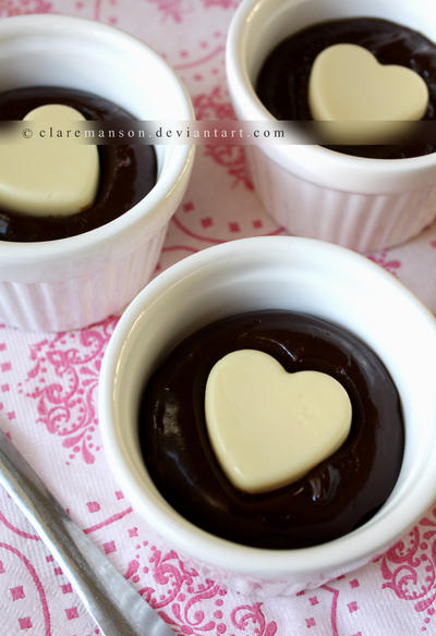 Chocolate Love Pots by claremanson