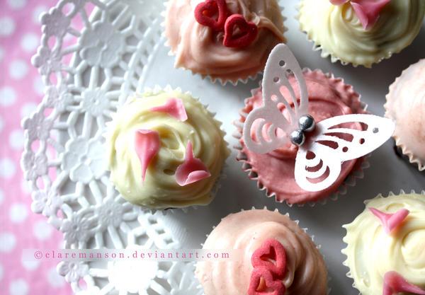 Petit Four Cupcakes by claremanson