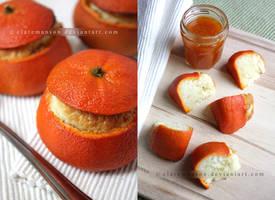 Orange Cakes by claremanson