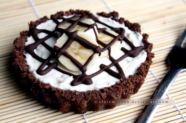 Banana and Chocolate Cheesecake (+recipe) by claremanson
