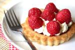 Raspberry and Lemon Cream Cookie Tart